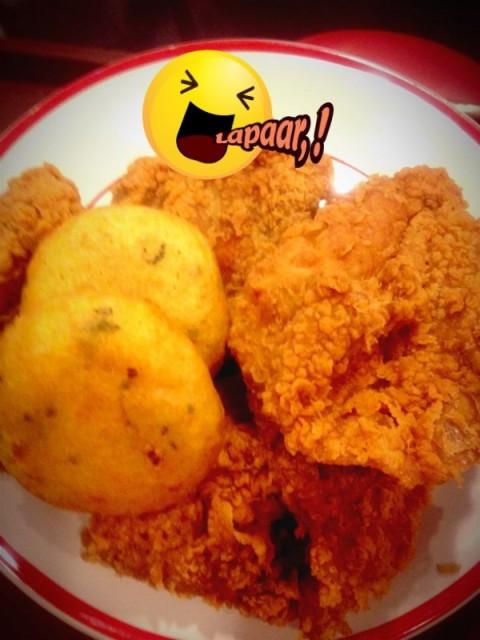Ayam Goreng Crispy and perkedel